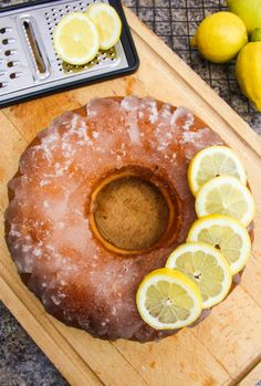 Lemon Yogurt Drizzle Cake