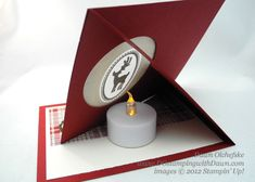 Easel Tealight Card ~ SU! ~ Dawn Olchefske