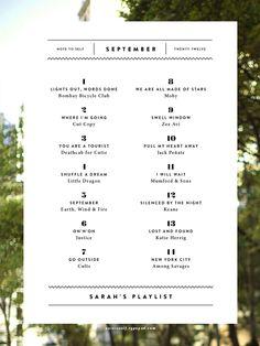 graphic, septemb playlist, number