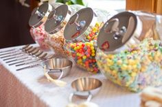 Cereal Party breakfast cereal, candi, brunch for kids, cereal bars, parti food, kid parties, candy jars, cereal bar party, birthday breakfast for kids