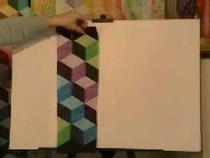 Strip Pieced Tumbling Blocks