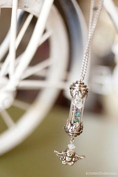 Handmade Mother's Day Birthstone Necklace Gift Idea KristenDuke.com DIY