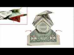 How to fold a Money Origami Elf / Santa Claus