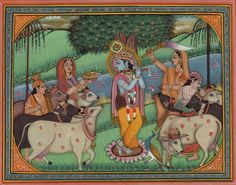 Krishna Gopi Cow Art
