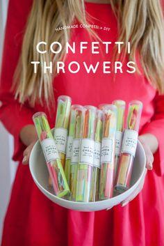 Handmade Confetti and DIY Confetti Throwers - Oh Happy Day! - na pozvanku?