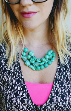 How to Make a Simple Beaded Necklace - A BEAUTIFUL MESS