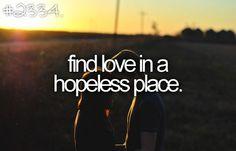 Find love.