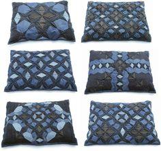 Denim pillows by Julie Floersch.