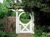 White gate w/picket detail