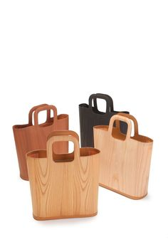 Woodum Tote Shou - An extraordinary bag made in Japan from thin slices of wood strengthened by a special resin technique