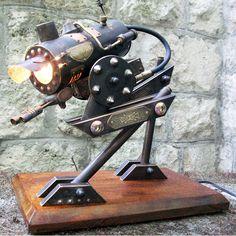 Steampunk Hybrid Desk Lamp