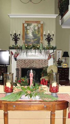 Family Room {Christmas Tour} - Our Southern Home