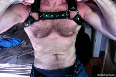 leather straps hairy cub