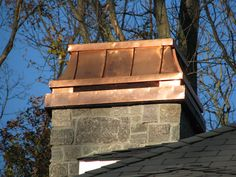 Temptress #1. This is the first Temptress chimney crown made by Chimney King. Real copper on oversize copper chase pan. A divine work of art thanks in large part to Becky Alexis of Denver CO.