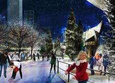 Maggie Daley  winding ice skating ribbon will open in late Nov. or early Dec. 2014. In summer it will become a walking path.