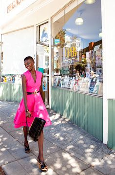 Tuesday's Girl: Model Achok Majak for Lesley Evers Collection