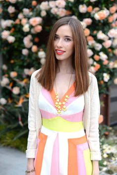 M Loves M: striped creamsicle - super cute in our Pretty Baubles Necklace