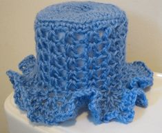 crochet toilet cover- free crochet pattern