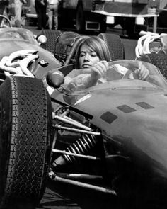 franchise hardy preferring the driver's seat during the filming of grand prix. (april 2014)