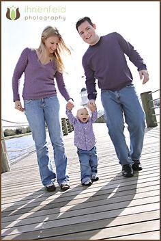 Family photo at disney boardwalk