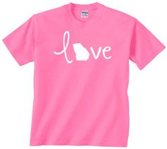 Love Georgia t shirt. Stylish design to support your by JedaTees, $14.95