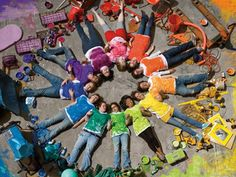 People Color Wheel- would love to this in afterschool art and summer camp!great  keepsake photo for me and them! peopl color, color art, colorful groups, color wheel class project, rainbow circl, color wheels, rainbow colors, colour wheel, school colors