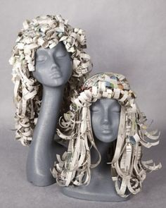 Paper wigs. These would be so much fun to make! by IluvCastleville