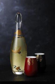 Japanese Sake decanter and glass