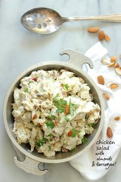 Chicken Salad with Almonds and Tarragon   Foodness Gracious