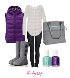 I <3 purple and grey together!