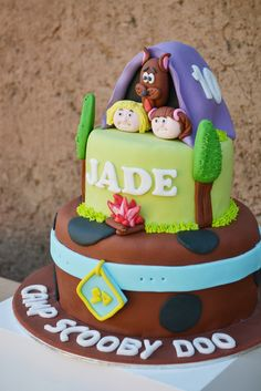 Fun cake at a Scooby Doo Camping Birthday Party!  See more party ideas at CatchMyParty.com!