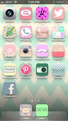 @Rachel R R Mayo  How to make your iphone icons pretty!