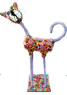 Whimsical polymer  clay cat  #polymer clay cat