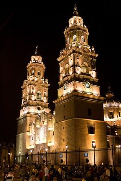 Morelia Cathedral, Michoacan, Mexico.  Photo: Marc Hors, via Flickr