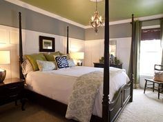 Green & Gray Bedroom