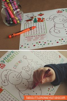 Christmas Activity Placemat (Free Printable}