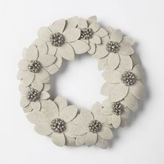Winter Flower Wreath contemporary holiday decorations