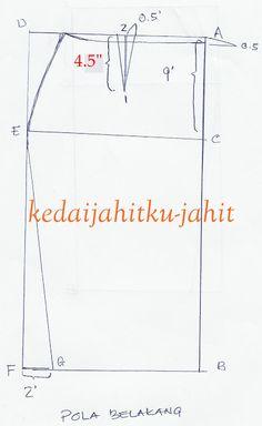 sew tutori pola kain kain lipat baju kurung sew diy lipat batik
