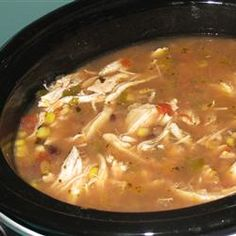 Six Can Chicken Tortilla Soup!  This can't possibly get any easier! Found at Allrecipes.com