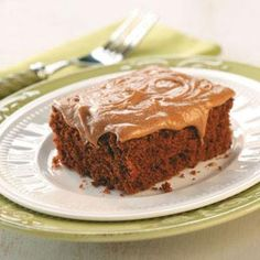 Chocolate Sheet Cake Recipe from Taste of Home -- A great dessert for a big family or to bring to the potluck!