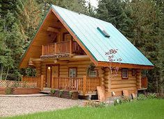 ...to live in a log home, big or small, it doesn't matter.    This is my vacation home!