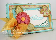For the love of life: JustRite Papercrafts: Stitched Flower Vintage Tags