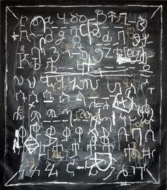 "Saatchi Online Artist: Charles Munka; Mixed Media, 2011, Painting ""Alphabet Grand"" #AndreaStanford #7daysofdesign"