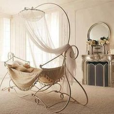 A nap in the most elegant hammock I have ever seen!    Photo: Stylish Eve