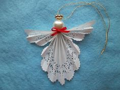 how to make a paper doily angel ornament | Paper Doily Angel Ornament by AngelReminders on ... | CRAFTS AND DIY