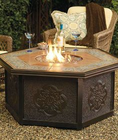 Warm your outdoor conversation area with flickering firelight from our Verona Custom Gas Fire Table.