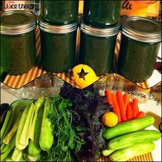 """CLEANSE DAY: Doing a full day of juice today! This cleanse is more of a """"Man Up"""" recipe. All veggies except for the lemon. The carrot adds some sweetness, but really just a touch. All of the ingredients however are super cleansing and amazing for you! Cheers! CUCUMBER:Skin,Nails,Hair,Hydration,Anti-Cancer,Detoxifying, Antioxidant,Anti-Inflammatory,Diuretic,Blood Pressure,Joint Health, Kidneys,Vitamins,Minerals. KALE:Skin,Hair,Nails, Antioxidant,Anti-Inflammatory,Anti-Cancer,Detoxifyi"""