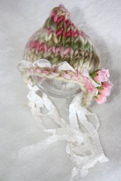 Newborn pixie bonnet photo prop