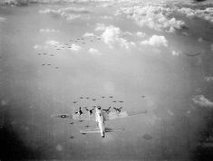 Precision formation of a group of 36 B-17 Flying Fortress bombers.