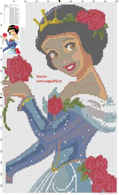 Princess Snow White cross stitch pattern - 2186x3572 - 4542935